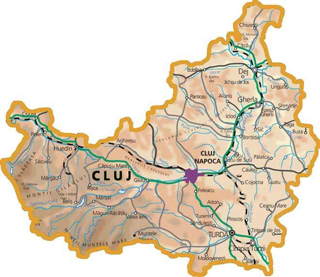 Harta Cluj
